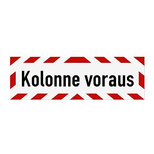 LOHOFOL Magnetschild Kolonne voraus | Schild magnetisch | lieferbar in DREI Größen (45 x 15 cm)