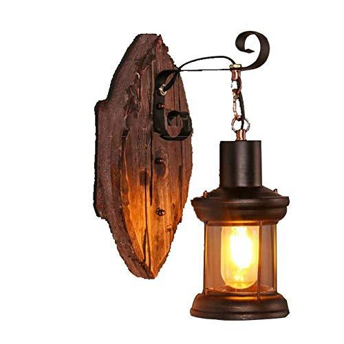 JACKJO Iluminación de la lámpara de país Raro, Medieval clásico Vintage Industrial Apliques Corredor Lugar Exterior Loft Corredor decoración Canal Dormitorio [Clase de energía A]