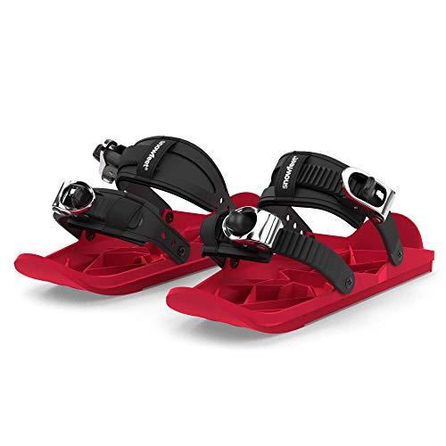 Snowfeet Mini Skates für Schnee Die kurzen Skiboard Snowblades Die echten Original Varianten (Rot)