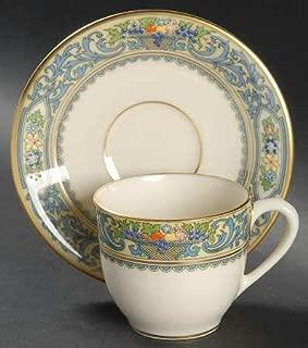 Lenox China Autumn (Newer,Gold Backstamp) Flat Demitasse Cup & Saucer Set, Fine China Dinnerware