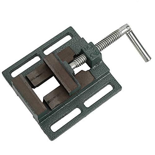 Tornillo de banco para taladro de columna, tornillo de bloqueo de fresadora, 5,2 x 5,2 x 1,7 pulgadas para piezas de fijación de metales