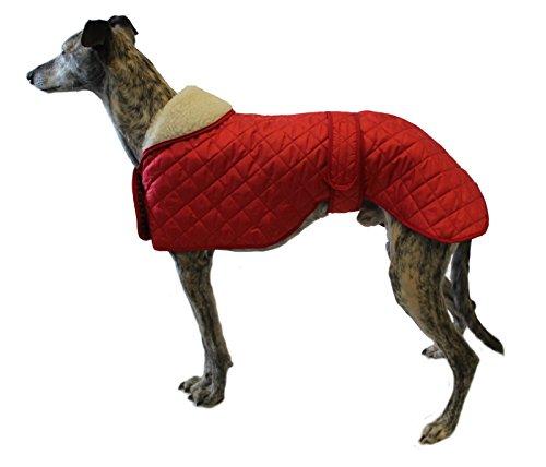 Cosipet Greyhound Anorak - Abrigo de Nailon (56 cm), Color Rojo