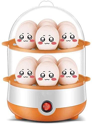 XFSE egg boiler Egg Boiler, Double-Layer Timer Egg Cooker,Stainless Steel Home Automatic Power Off 14 Eggs Boiler Egg Steamer, Mini Breakfast Machine Cooking Pan (Color : Parent)