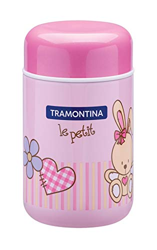 Pote Térmico, Tramontina, Le Petit Menina, Rosa, 0.4 L