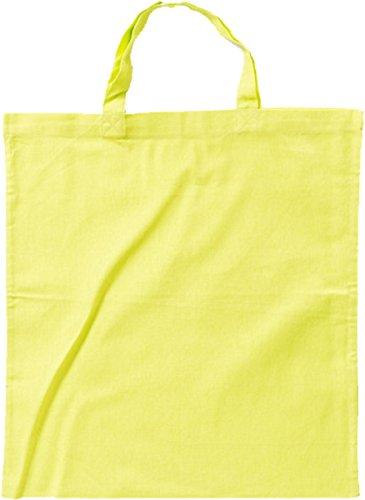 Nashville print factory Baumwollbeutel auch mit Druck   Logo   Werbung   Tragetasche Tasche Beutel Stoffbeutel Baumwolltasche (Kurze Henkel - 50 Beutel, Limettengrün - unbedruckt)