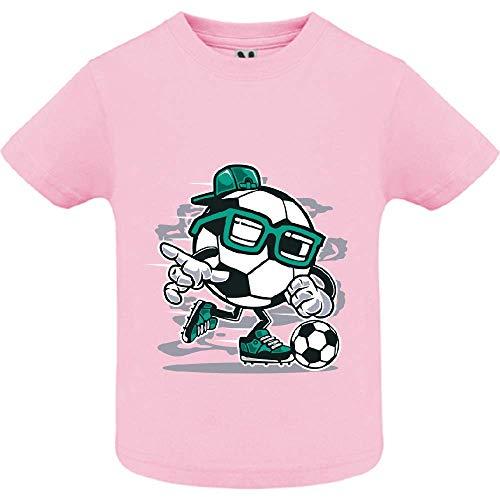 LookMyKase T-Shirt - Street Soccer - Bébé Fille - Rose - 2ans