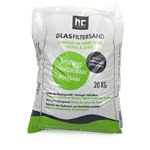 Höfer Chemie 20 kg Glasgranulat für Sandfilteranlagen 0,7-1,3 mm Körnung für Pool und Schwimmbad