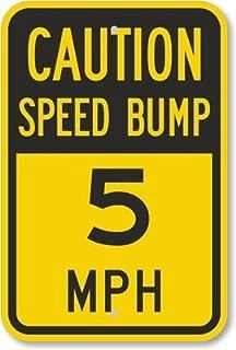 Riuolo Caution Speed Bump - 5 MPH Sign, 18