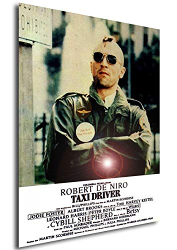 Instabuy Poster Taxi Driver Vintage Movie Poster - A3 (42x30 cm)