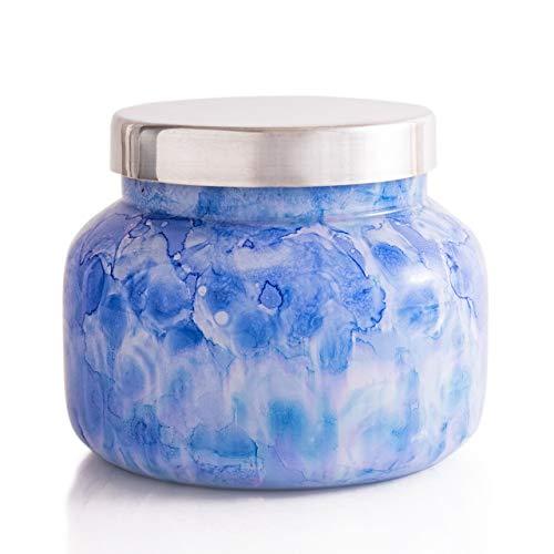 Capri Blue Signature Blue Jean Candle in Watercolor Glass Jar, 19 Ounce