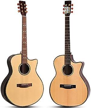 YYYSHOPP Guitarra Solid 41 Pulgadas de Guitarra acústica Popular Guitarra de Guitarra acústica Kits de Guitarra acústica de Acero-Cuerda Guitarras