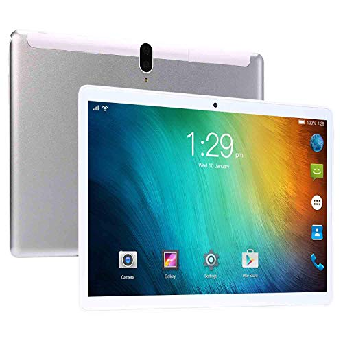 10.1'' Tablet PC, Android 8.0 Phablet Tablet Quad-Core 8 GB RAM 128 GB ROM 8.0 MP + 13.0 MP Camera Dual SIM Bluetooth 3G Phone Call and WiFi Tablet