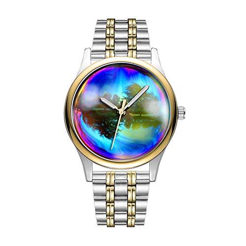 Personalisierte Minimalistische Bubble Watch Goldene Fashion wasserdichte Sportuhr