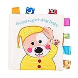 YOUTHINK Livre en Tissu Doux de Chiot Livre de Livre Froissé Jouet pour Enfants Jouet Éducatif Précoce Meilleur Livre de Lecture Précoce