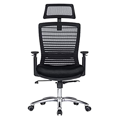 Ergonomic Office Chair - Modern High-Back Desk Chair - Reclining Computer Chair with Lumbar Support - Adjustable Seat Cushion & Headrest- Breathable Mesh Back from Novelland