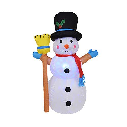 Pannow - Muñeco de nieve hinchable de Navidad, regalo hinchable para decoración de Navidad, árbol de muñecas, muñecos de nieve, Navidad, 1,2 m, Us Plug