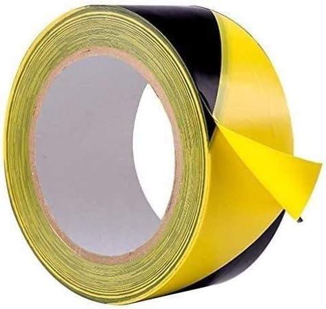 JUZZQ Black and Yellow Hazard Max 56% OFF PVC Tape Popular overseas Warning Marking Adhesive