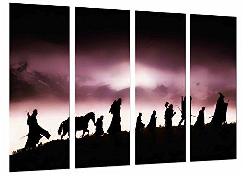 Cuadro Fotográfico Señor de los anillos, Personajes, Silueta Tamaño total: 131 x 62 cm XXL