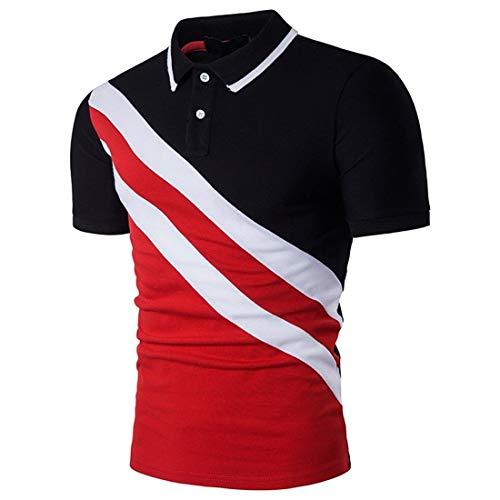 Willlly poloshirt voor heren, casual, chique, dagelijks, modieus, korte mouwen, met kraag, korte mouwen, zomerhemd