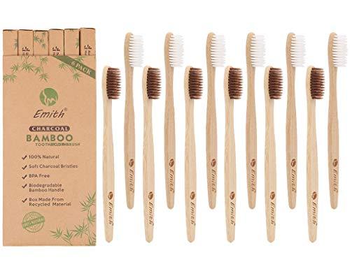 Cepillos De Dientes De Bambú Cerdas Naturales Marca Wudong