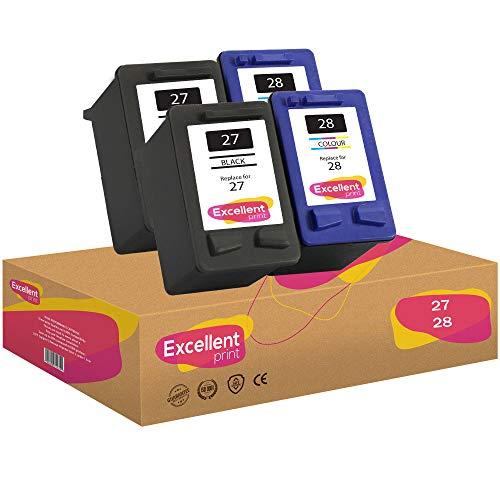 Excellent Print 27 28 Compatible Cartuchos de Tinta para HP Deskjet 3520 5850 3320 3550