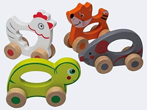 Jouéco 80028 animal à roulette schiebetier bois NEUF