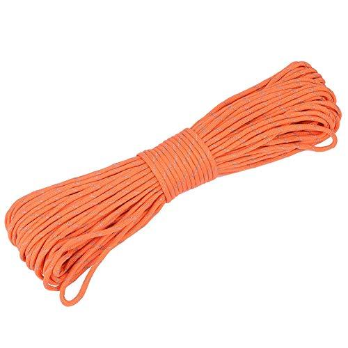 Pwshymi Paracord 9 Strand Paracord Cordón Reflectante 31m Cordón para Caza(Naranja)
