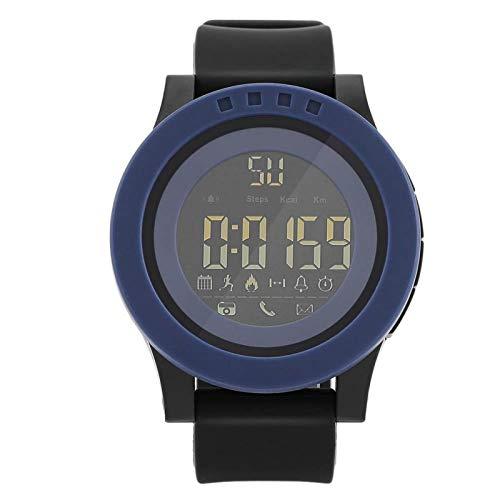 EVTSCAN Digitaal sporthorloge voor heren, waterdichte ondersteuning Bluetooth-horloges voor heren Casual lichtgevende stopwatch Eenvoudig slim horloge(蓝色)
