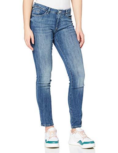 edc by ESPRIT Damen Slim Low Skinny Jeans, 901/BLUE Dark WASH, 25W / 30L