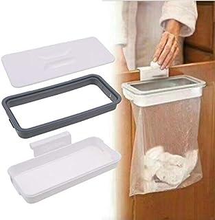 TMYQM Garbage Bag Holder Cupboard Door Back Hanging Trash Rack Storage Cupboard Cabinet kitchen Tools Economic Storage Racks