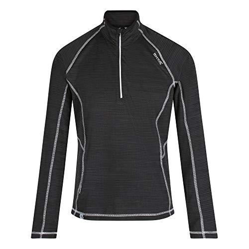 Regatta Polaire quadrillée Yonder avec col Protecteur, Ouverture 1/2 Zip et propriété de séchage Rapide T-Shirts/Polos/Vests Homme, Black, FR (Taille Fabricant : XL)