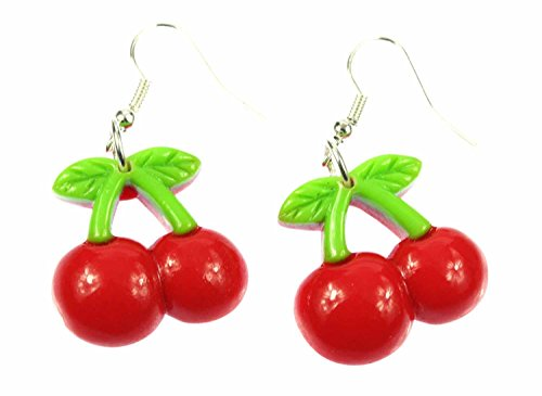 Kirschen Ohrringe Miniblings Kirschohrringe Kirsche Cherry Obst Rockabilly 25mm