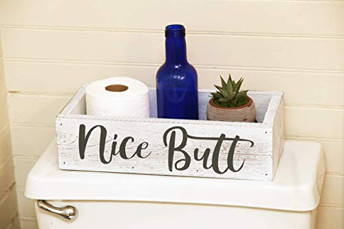 Nice Butt Bathroom Decor Box - Toilet Paper Holder - Bath Room Decor