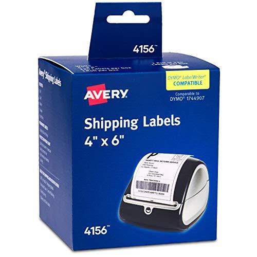 Avery Thermo-Versandetiketten für Dymo und Zebra Drucker 220 Labels weiß