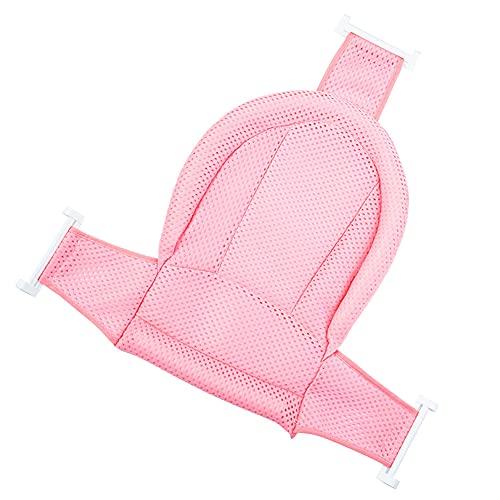 IWILCS Plegable Baño Bañera Almohadilla Bebé Soporte Para El Baño Bebe con Red para Bebés 0-36 Meses (Rosa)