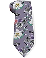 Classic Fashion Men's Necktie Summer Tropical Watercolor Flowers And Birds Regular Size Colorful Funny Novelty Neck Ties For Men Teen Lovers Formal Casual