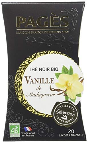 PAGÈS Thé Noir vanille Bio 20 Sachets