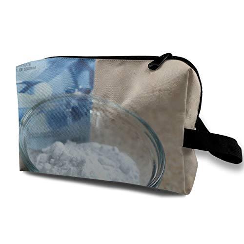 Backpulverbox Weißes Pulver Natriumbikarbonat Make-up Reisetasche Gedruckte Multifunktions-Tragbare Kosmetische Make-up-Tasche Etui Organizer