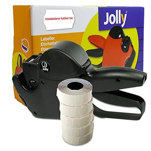 Set: MHD Auszeichner Jolly S14 für 26x16 inkl. 6.000 HUTNER Etiketten weiss permanent - Aufdruck: mindestens haltbar bis | etikettieren | HUTNER