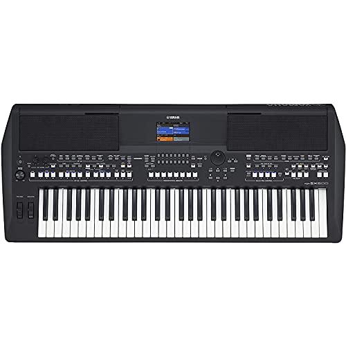 Yamaha PSR-SX600 Digital Keyboard - Teclado digital de calidad para las workstations digitales con 850 voces de instrumentos auténticos y estilos de DJ, 61 teclas sensibles a la pulsación, en negro