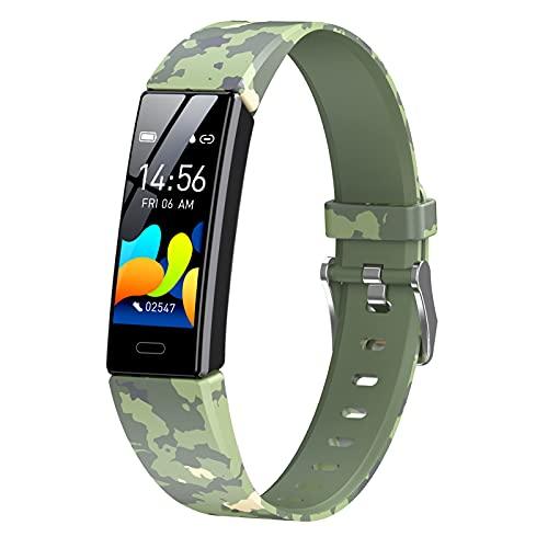 HQPCAHL Smartwatch Pulsera De Actividad Física Reloj Inteligente con Sanguíneo Presión Arterial Frecuencia Cardíaca, Cronómetros,Calorías,Monitor De Sueño,Podómetro Monitores De Actividad,Verde