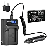 Kastar 1-Pack NP-60 Battery and LCD AC Charger Compatible with Vivitar Video Cameras DVR-840XHD DVR-565HD DVR-390H DVR-530 DVR-545 DVR-550 DVR-550G DVR-688 DVR-710 DVR-7300X Vivicam 3930 Vivicam 4000