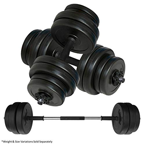 Body Revolution Dumbbell Set – Adjustable Dumbbells Weight Set with Barbell Link Accessories – Various Weights & Size Options Sold Separately (10kg)