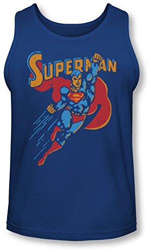 Superman - - Life Like action Débardeur Homme, Large, Royal Blue