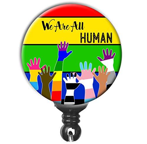 Raised Fist Floral ID Holder Black Lives Matter Badge Reel BLM Equality