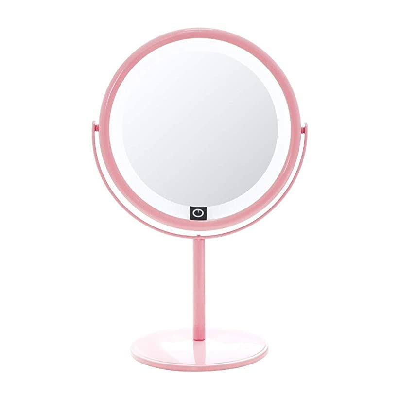 主人頼るバズ10XのLEDが付いている携帯用虚栄心ミラーは化粧品の美の浴室のミラー360度の回転をつけました
