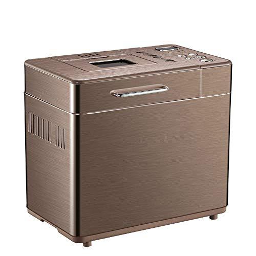WMKEDB Breadmaker, Brown, Máquina De Pan con La Apariencia Simple, Completamente Automático, Multi-Funcional, Inteligente, Hecho Quick-Hogar Máquina De Pan Simple Operación Máquina De Pan,Automated