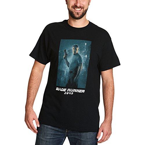 Blade Runner para Hombre de la Camiseta de Rick Deckard Tiro Lleno de la película en 2049 Negro de algodón - XXL
