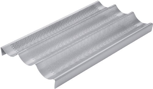 Chicago Metallic Commercial II Non-Stick Perforated Baguette Pan -