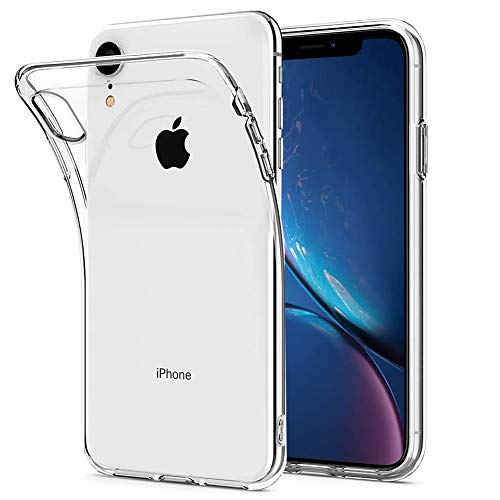 Amonke Funda iPhone XR - Silicona Transparente TPU Carcasa, Flexible Suave Cristal Clear Ultra Slim Antigolpes Antiaraazos Bumper Case Cover para Movil Apple iPhone XR